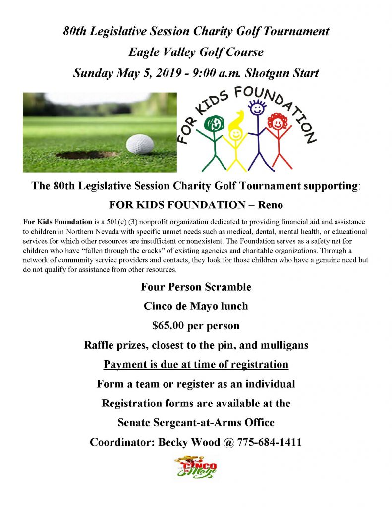 The 80th Legislative Session Charity Golf Tournament Will Be
